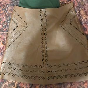 White House black market leather skirt size 4